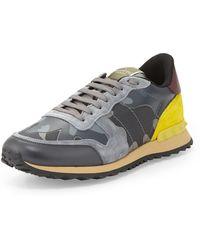 Valentino Rockstud Leather Trainer Sneaker - Lyst