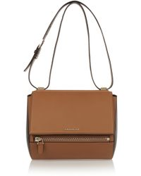 Givenchy Medium Pandora Box Bag in Tan and Black Leather - Lyst