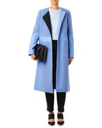Tibi Textured and Panelled Wool-blend Coat - Lyst