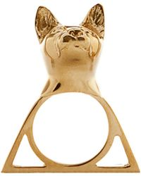 Glenda López The Cat Triangle Ring - Lyst