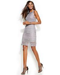 Inc International Concepts Metallic Crochet Sheath Dress - Lyst