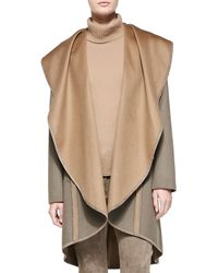 Lafayette 148 New York Lucinda Reversible Cascading-collar Coat - Lyst