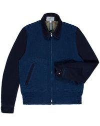 Paul Smith Indigo-Dye Textured-Cotton Bomber Jacket blue - Lyst