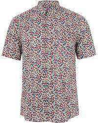 Liberty - Burgundy Ffion Floral Shirt - Lyst