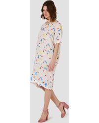Anntian Silk T-shirt Dress Multi - Multicolour
