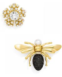 BaubleBar Bee Brooch Duo - Metallic