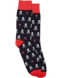 Corgi Rose  Skull Midcalf Socks - Lyst