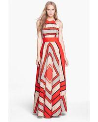 Eliza J Scarf Print Woven Maxi Dress - Lyst