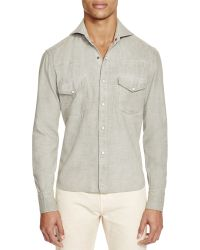 Eidos Garment Dyed And Washed Western Slim Fit Button-down Shirt - 100% Exclusive - Green