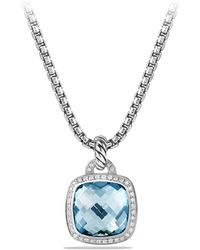 David Yurman Albion Pendant With Diamonds silver - Lyst