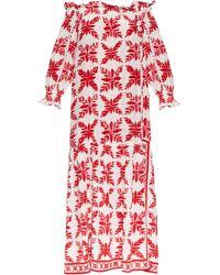 Easton Pearson Take Away Island Frond-print Silk Dress - Pink