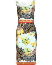 Dolce & Gabbana Sleeveless Silk Dress - Lyst