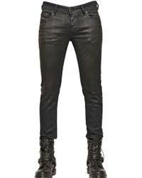 Diesel 17cm Sleenker Coated Denim Jeans - Lyst