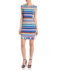 Trina Turk Zinnia Striped Sheath Dress multicolor - Lyst