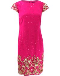 Notte by Marchesa Beaded Shift Cocktail Dress - Lyst