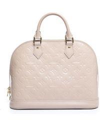 Louis Vuitton | Pre-owned Rose Angelique Vernis Alma Pm Bag | Lyst