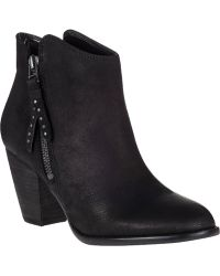 Steve Madden Whysper Ankle Boot Black Leather - Lyst