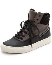 Vince - Newman High Top Trainers - Black/Umber - Lyst