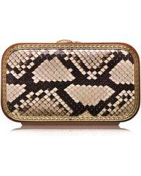 Katrin Langer Python Square Bag in Natural - Lyst
