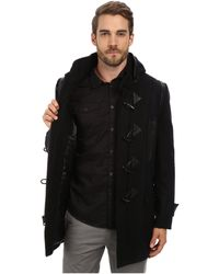 Andrew Marc X Richard Chai Pierce Textured Wool Plaid Toggle Coat - Lyst