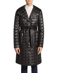 Dawn Levy Gia Quilted Tie-Waist Coat - Lyst