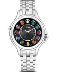 Fendi - Crazy Carats Stainless Steel Rotating Gemstones Watch, 38mm - Lyst