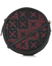 Topshop Floral Stitch Coin Bag - Black - Lyst