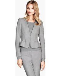 H&M Gray Figurefit Jacket - Lyst