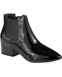 French Connection Ronan Patent Leather Boots - Lyst