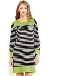 Eliza J Stripe Two-pocket Sweater Dress - Lyst