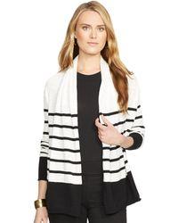 Ralph Lauren Striped Shawl-Collar Cardigan - Lyst