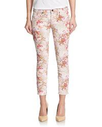 Genetic Denim Brooke Jacquard Cropped Skinny Jeans - Lyst