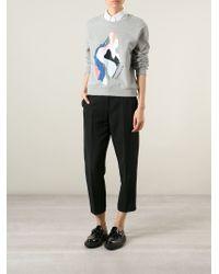 Carven | Printed Cotton Sweatshirt | Lyst