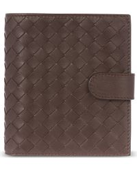 Bottega Veneta Intrecciato French Flap Leather Coin Purse - For Women - Lyst