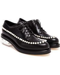 Simone Rocha Pearl Embellished Leather Loafers - Lyst