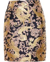 Lanvin Animal Brocade Skirt multicolor - Lyst