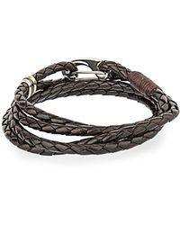 Paul Smith Triple-wrap leather bracelet DdgLt