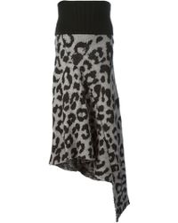 Acne Studios Grid Animal Skirt - Lyst