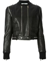 Givenchy Cropped Biker Jacket - Lyst