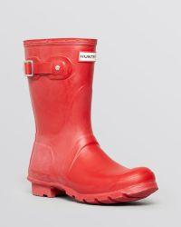 Hunter Womens Original Short Rain Boots - Lyst