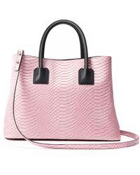 Milly Logan Snake Tote - Lyst