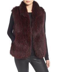 Tasha Tarno - Sleeveless Faux-Fur Vest - Lyst