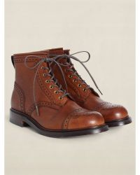RRL Leather Bowery Boot - Lyst