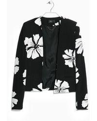 Mango Monochrome Floral Jacket - Lyst