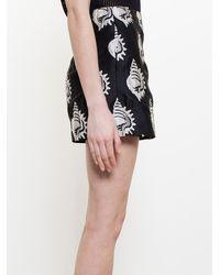 Carven Sea Shell Appliqué Shorts - Black