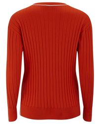 Paul by Paul Smith | Women's Rib Crew Neck Knitted Jumper | Lyst