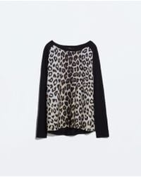 Zara Combined T-shirt - Lyst