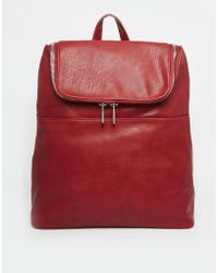 Asos Backpack with Chunky Zip - Lyst