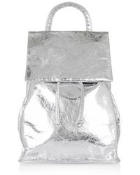 Topshop Leather Smart Backpack - Lyst