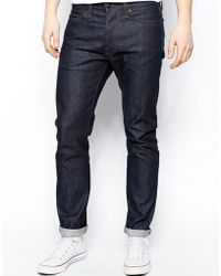 Edwin Jeans Ed75 Tapered Fit Compact Indigo Unwashed - Lyst
